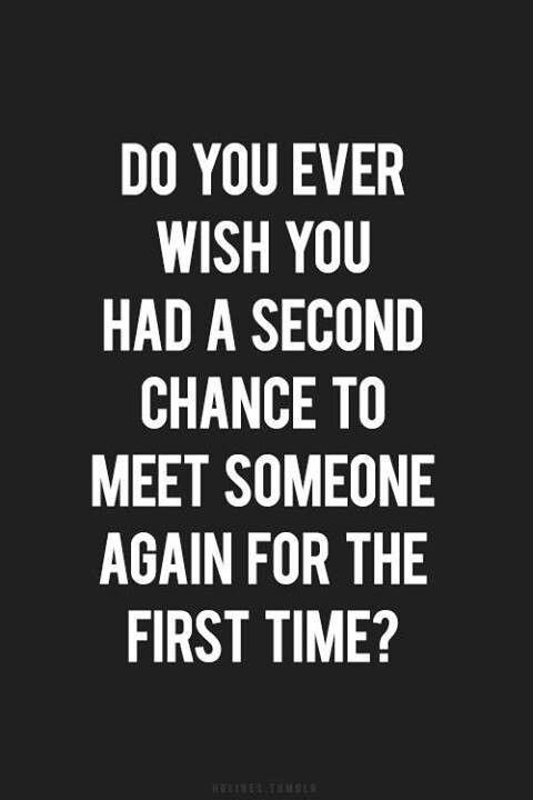 Nunca negue uma segunda chance!