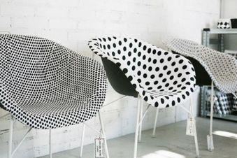 cadeira de bolinha