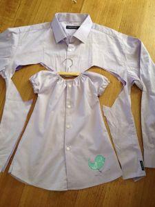 vestido da camisa do pai